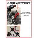 Porta targa bassomonobraccioper Monster 1100 EVO e 796
