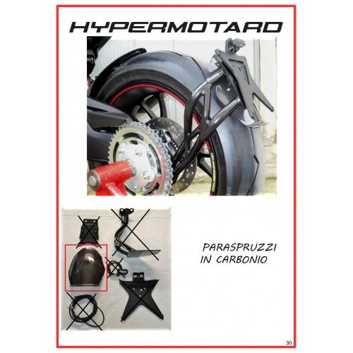 Paraspruzzi in carbonio per porta targa Hypermotard 821 - 939 - 950