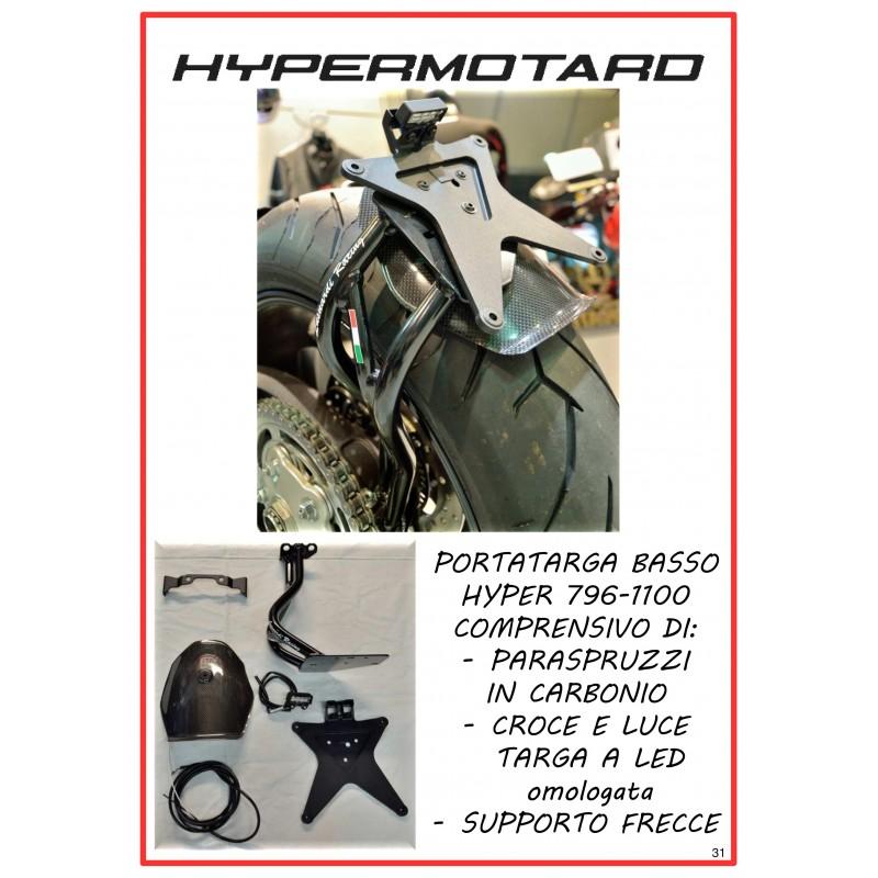 Kit porta targa basso per Hypermotard 796/1100