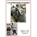 Porta targa basso completo di cablaggio fanale posteriore per Hypermotard 796/1100