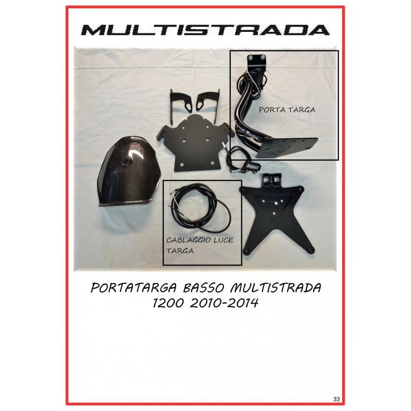 PORTA TARGA BASSO MULTISTRADA 1200 2010-2014