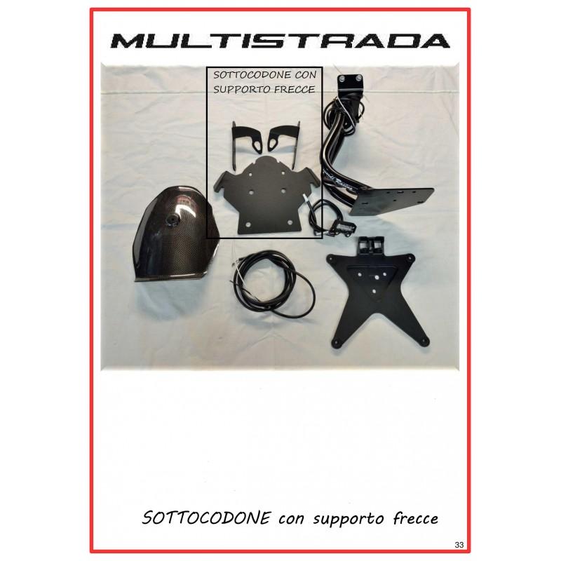 SOTTOCODONE CON SUPPORTO FRECCE MULTISTRADA 1200 2010 - 2014