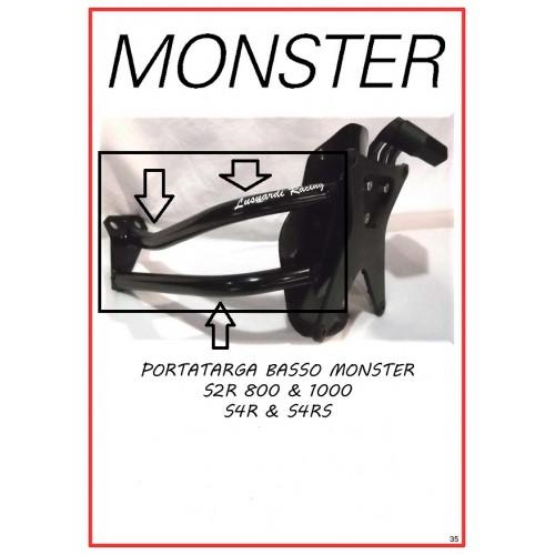 Porta targa basso per monobraccio  Monster S2R/S4/S4R/S4RS