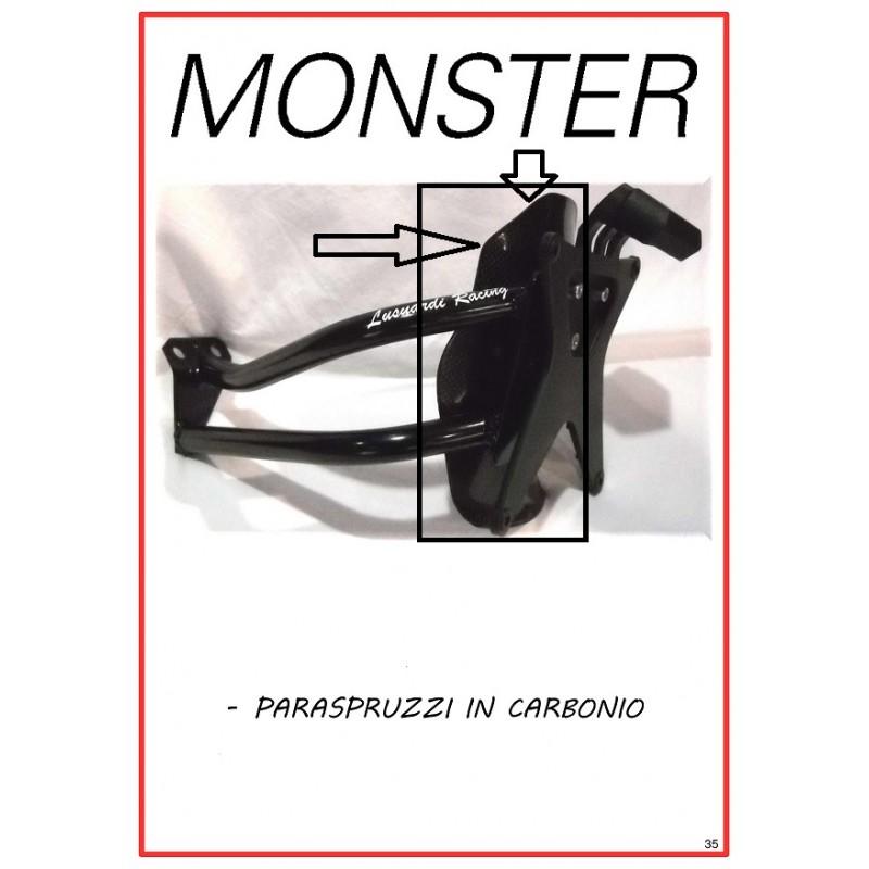 Paraspruzzi in carbonio per porta targa monobraccio Monster modelli vecchi S2R/S4R/S4RS